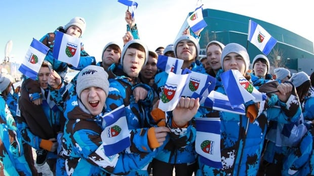 Team NWT gets fired up for the 2014 Arctic Winter Games in Fairbanks, Alaska. This year's contingent includes over 300 participants from 18 different communities across the territory.