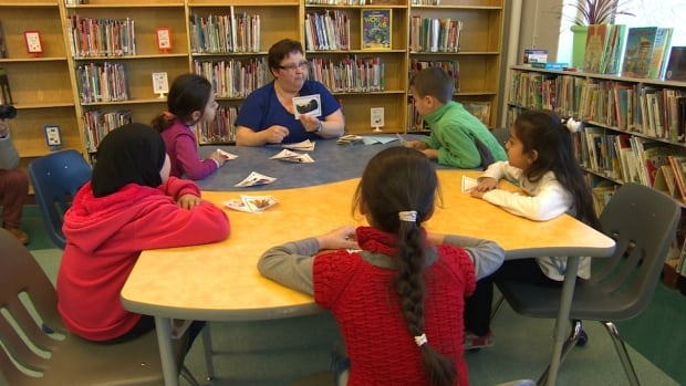 Syrian refugee students take part in an English as an Additional Language class at Victoria Albert School in Winnipeg in March. Many of the students had arrived in Canada within the past year.