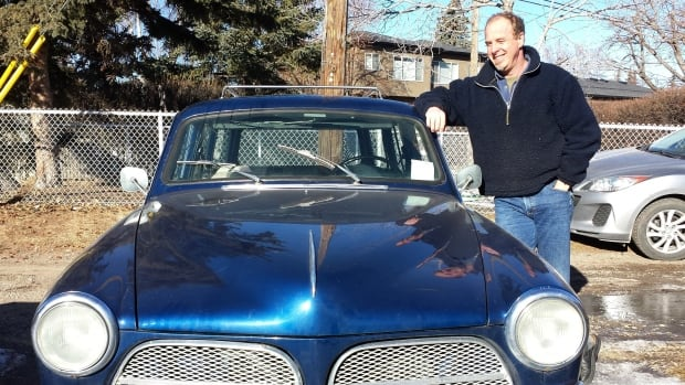 Jim Steil says once he's done converting his 1966 Volvo, he's going to start calling it an 'E-Volvo.'