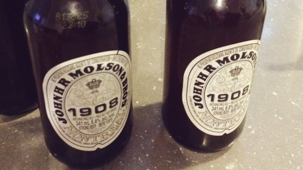 Two bottles of Molson's 1908 Historic Pale Ale. Beer columnist Rebecca Whyman says the beer uses ingredients and a recipe that closely resembles those used around the turn of the 20th Century
