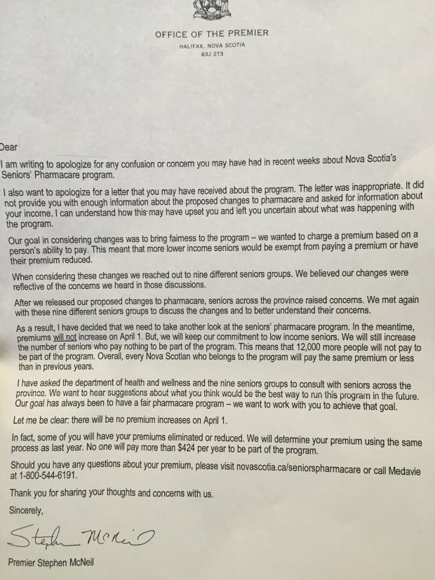 Premier's apology