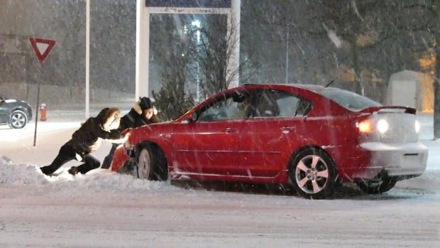Toronto winter storm push