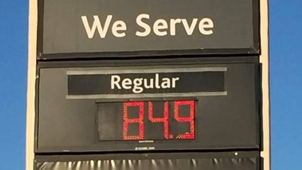 Prices around 84.9 cents a litre were spotted at various gas stations in Winnipeg on Wednesday morning.