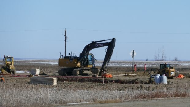 Construction begins on a new development by Sioux Valley Dakota First Nation near Brandon, Man.
