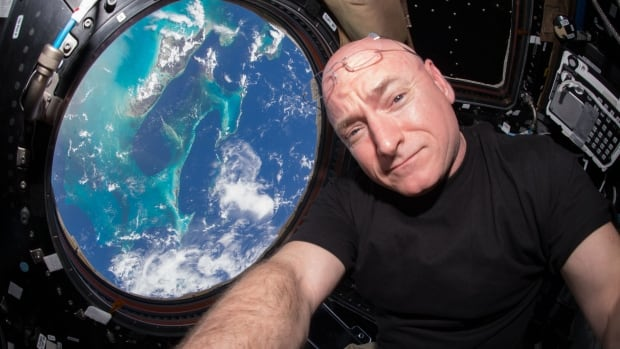 U.S. astronaut Scott Kelly is seen inside the Cupola, a special module which provides a 360-degree viewing of the Earth and the space station, aboard the International Space Station last July. Kelly has just returned from space after a record-long stay for an American.