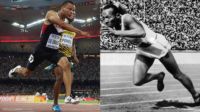5739379e3dae9 What if Andre De Grasse ran in the same kind of shoes and same kind of  track surface that Jesse Owens had in 1936. How fast would he go?