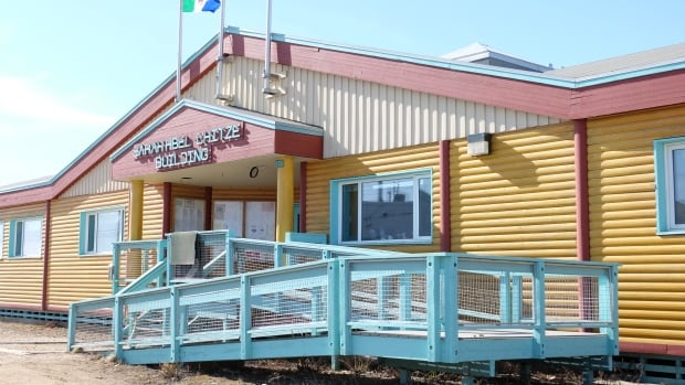 The government office in Old Crow, Yukon. Vuntut Gwitchin First Nation voters will go to the polls May 2.