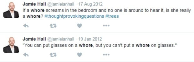 Jamie Hall tweets