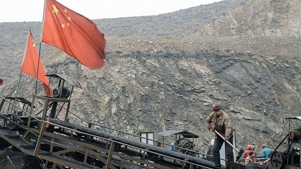 China coal mine flag