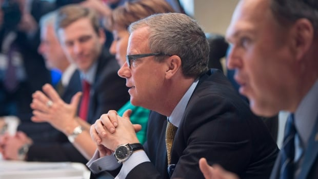 Saskatchewan Premier Brad Wall in Vancouver for a meeting of the Council of the Federation.
