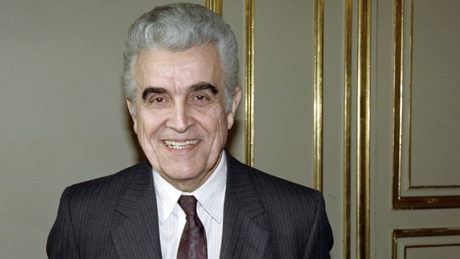 French-born historian, literary critic and social sciencist René Girard is shown in Paris in this 1990 file photo.