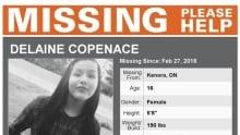 Missing poster for Delaine Copenace