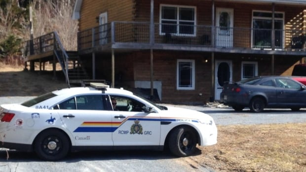 An RCMP cruiser is parked outside of a home in the Hampton area. One man has been arrested following a morning incident.