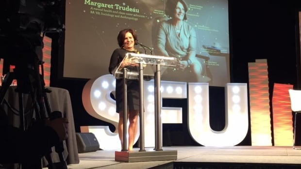 Margaret Trudeau received an SFU alumni award and a big surprise last night.