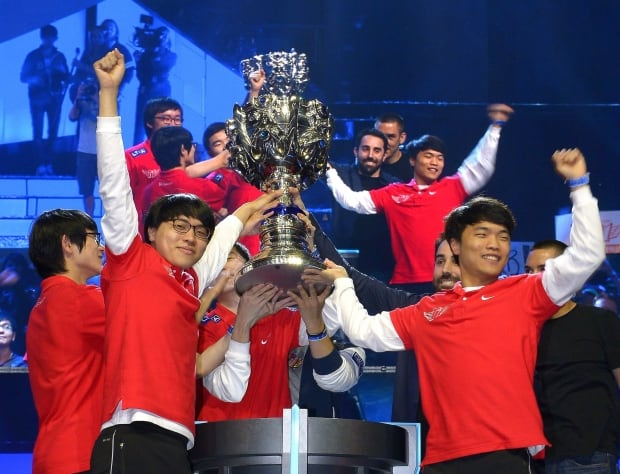 South Korea's Team Celebration - League of Legends Champion Esports