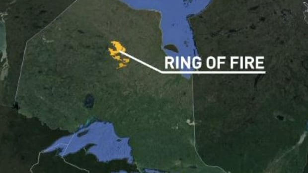 While the Ring of Fire wasn't specifically included in the federal budget, some say funding to the project could come from money put aside for infrastructure. The Ring of Fire is a large, mineral resource-rich area located in the James Bay Lowlands region of northern Ontario. (CBC)