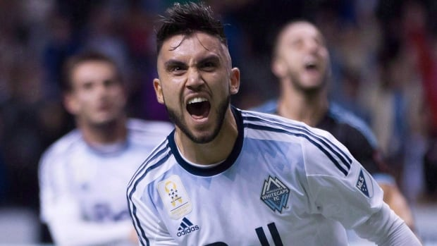 Vancouver Whitecaps Pedro Morales celebrates after scoring a goal on a penalty kick  against New York City FC last September.
