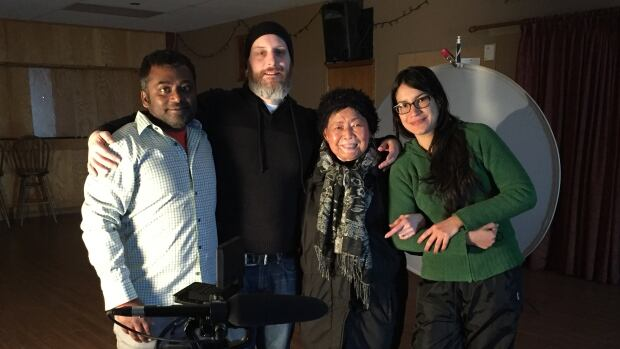 Filmmakers are in Labrador to create a new National Film Board docudrama on the lives of Filipino immigrants to Labrador. Rohan Fernando, Justin Simms, Epitacia Bruce, and Tamara Segura.