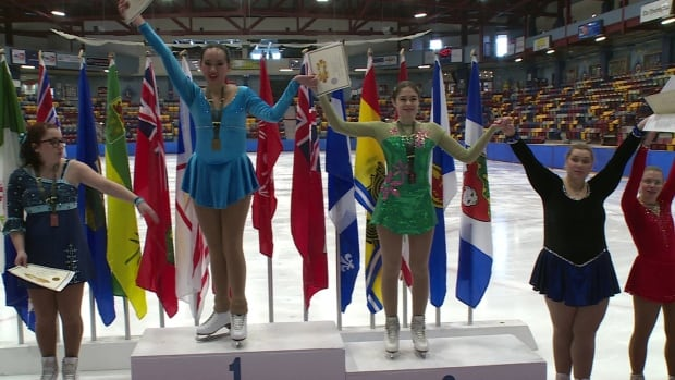 Athletes took to the medal podium after Friday's figure skating event at the 2016 Special Olympics Winter Games in Corner Brook.