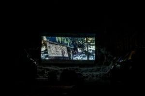 drive-in snow theatre