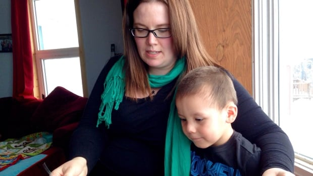 Jennifer Jerome and her son Evander last year in Fort McPherson, N.W.T. They moved to Yukon last June after becoming frustrated with health care in the N.W.T.