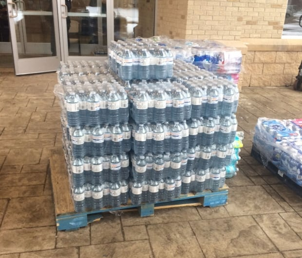 Toronto water crates Mississauga Flint