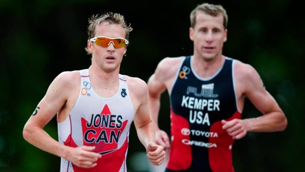 Canadian Kyle Jones, left, started the triathlon season with a top-10 finish to bolster his hopes of qualifying for the Rio Olympics.