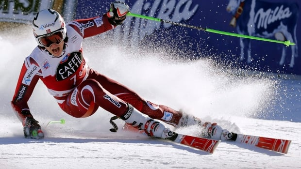 Norway's Henrik Kristofferson, shown in this December 2015 file photo, clinched the World Cup slalom title with a silver medal finish in Slovenia on Sunday.
