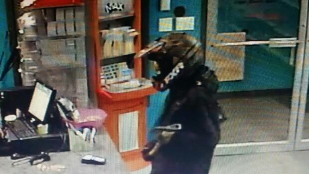 Happy Valley-Goose Bay RCMP are seeking the public's help in identifying the suspect who brandished an axe and held up Labrador Spice Mini Mart Saturday night.