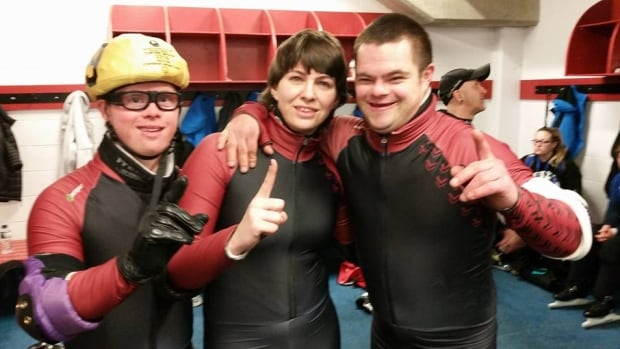 Special Olympics N.B.  speed skaters Jonathan Henry, Veronique LeBlanc and, Nicolas Maillet won gold medals in the 222M race.