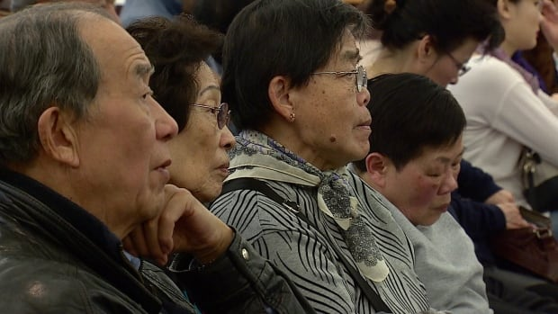Dozens attended a public information session Sunday on a proposed Chinatown redevelopment project. Many were not happy about a 27-storey building in the community.