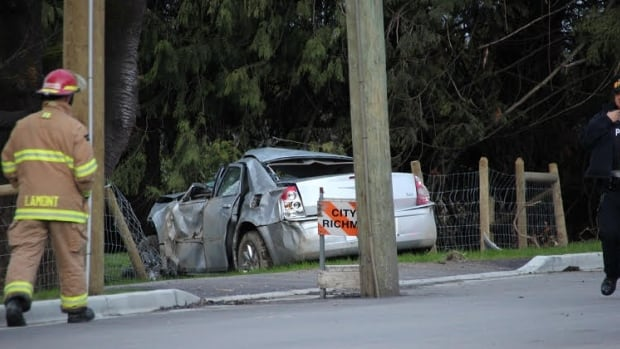 Richmond RCMP say they are investigating a fatality after a collision on Sunday on Westminster Highway at Nelson Road.