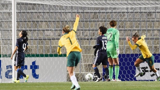 Australia and China both won to qualify for the 2016 Olympics in women's soccer. Japan, despite beating Vietnam 6-1, failed to qualify for its fourth straight Olympics.
