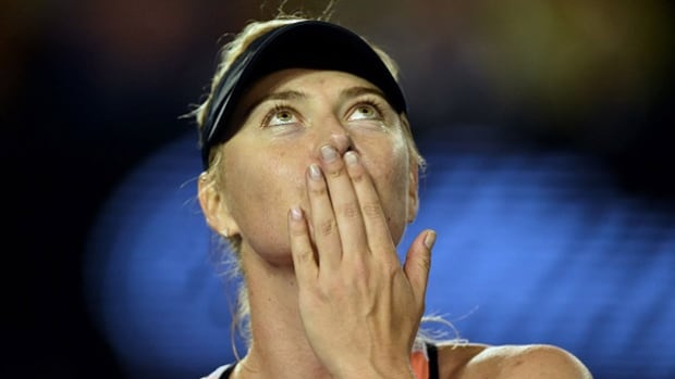 Maria Sharapova, seen here during January's Australian Open, said Monday that she failed a doping test during the event.