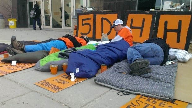 Students spent their first night sleeping outside the University of Regina on Sunday evening.