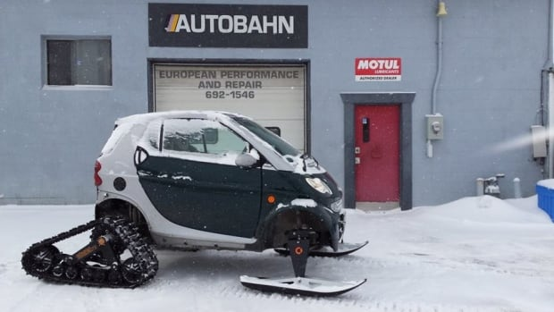 Tod Anderson spent two months building this modified Smart Car.