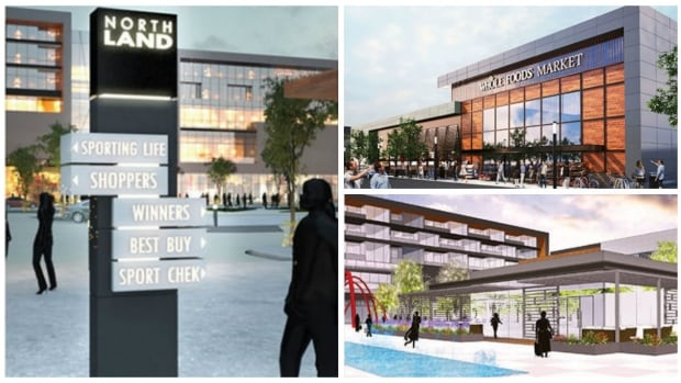 Artist conceptions included in the report to city council on the proposed redevelopment of Northland Village Mall, which is to include Calgary's first Whole Foods market.