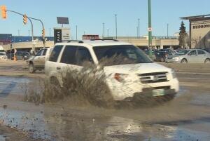 Van hits pothole