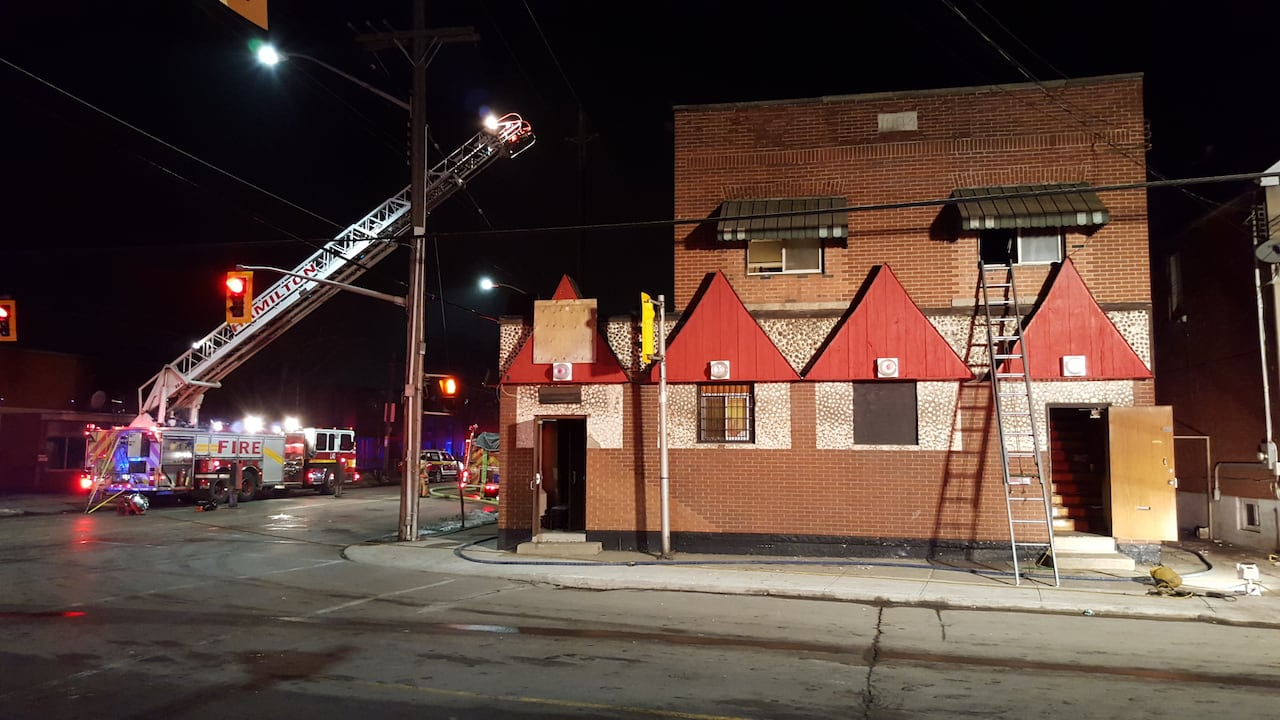 Fire breaks out in former Hells Angels clubhouse in Hamilton