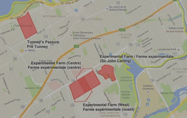 Ottawa Hospital four plans Civic campus new map March 7 2016