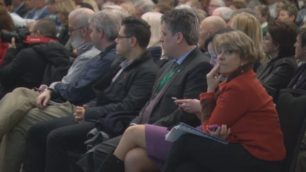 Hundreds of people gathered Monday night at a public information session regarding the future location of the Civic campus of the Ottawa Hospital.