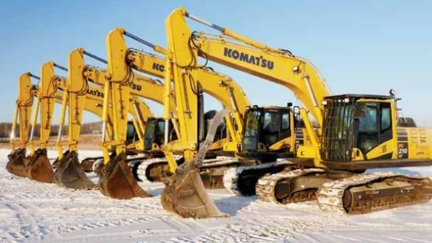 Just a small selection of the excavators that will be sold off during the two-day auction.