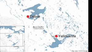 Deline, N.W.T., map