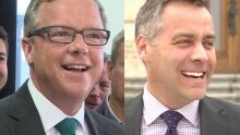 Brad Wall Cam Broten side-by-side