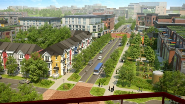A conceptual image of the west part of the Blatchford development.