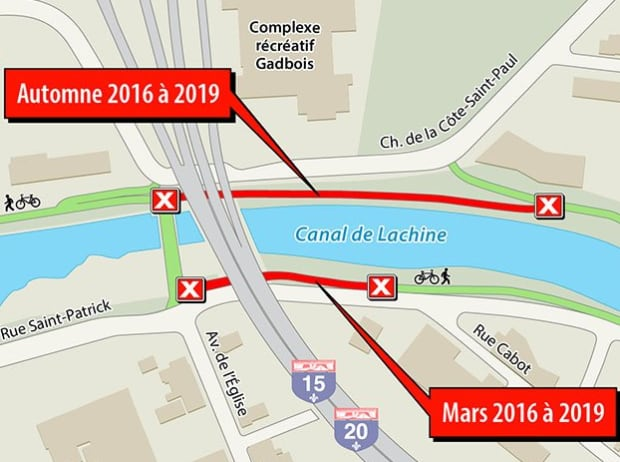 2016 to 2019 lachine bike path closure