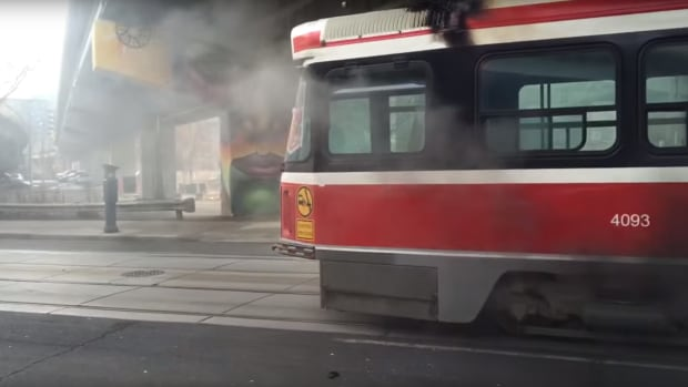 A 504 King Streetcar caught fire on Wednesday morning, forcing the evacuation of the TTC vehicle. Toronto police say no one was injured.