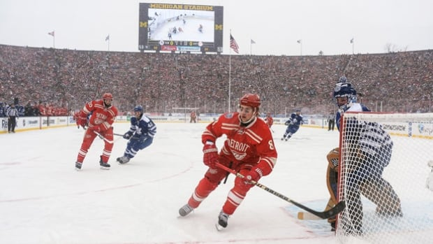The Red Wings and the Maple Leafs met outdoors New Year's Day in the 2014 Winter Classic at Michigan Stadium in Ann Arbor. They'll have a rematch on Jan. 1 2017 at Toronto's BMO Field.