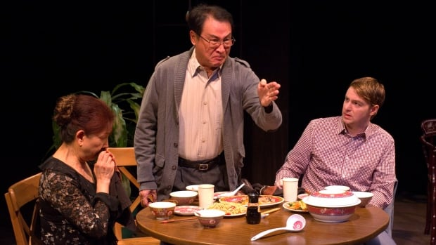 (Left to right:) Alannah Ong, B.C. Lee and Brian J. Sutton star in Ga Ting, playing at The Cultch until March 19.