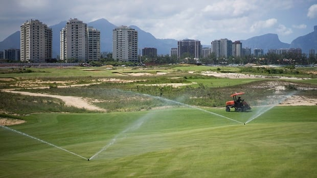 "The Olympic golf course in Rio received a thumbs-up from Australian captain and former PGA player Ian Baker-Finch during a test event on Wednesday. ""The clubhouse is done [and] practice facilities look good,"" he says, ""The course has grown in well. The last six months, that was their main concern, and it certainly looks pretty nice, right now."""